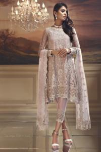*Anaya Chiffon Wedding Edit Collection 2019-Starlight Pink* (Replica)(Unstitched)