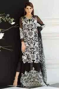 Sana Safinaz Net Dresses - Printed Chiffon Dupatta - Replica - Unstitched