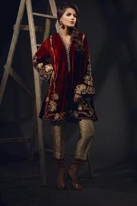 Sana Abbas Velvet Collection 2019-Red _ Replica _ Unstitched,