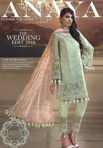*Anaya Chiffon Wedding Edit Collection 2019-Mint Melba*  Collection(Replica)(Unstitched)