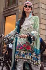 Sana Safinaz Now Available Fabric Of Shirt Is Printed Lawn - Replica - Unstitched