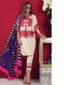 Sana Safinaz Wedding Dress Summer Collection Fabric Lawn With Chiffon Dupatta - Replica - Unstitched
