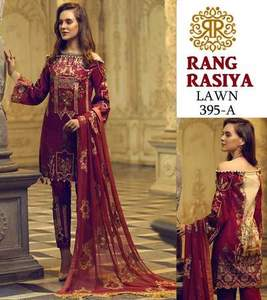RangRasiya Collection Lawn Suit With Chiffon Dupptta - Replica - Unstitched