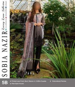 Sobia Nazir Now Available Fabric Lawn like Same As Original - Replica - Unstitched