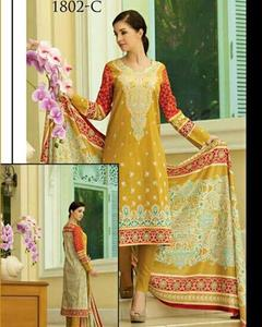 Jhalak Lawn Suits 3 Piece - 1802-C (Original) (Unstitched)