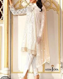 Asim Jofa Luxury Lawn Collection With Net Embroidered Dupatta (Replica)(Unstitched)