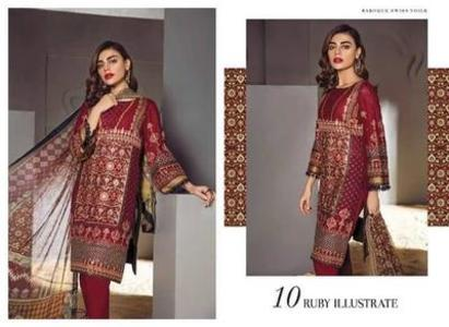 Barouqa Swiss collection 2019  (Replica)(Unstitched)