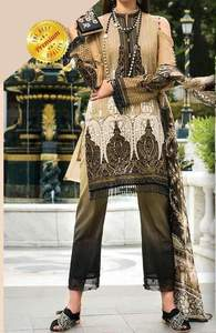 Gul Ahmed Collection Full Suit On Lawn With Chiffon Printed Dupatta - Replica - Unstitched - Replica - Unstitched