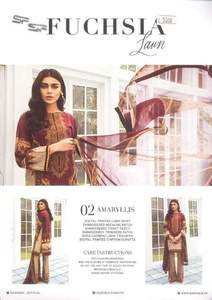 Barouque By Fuchsia Lawn Suit  Collection Replica - Unstitched