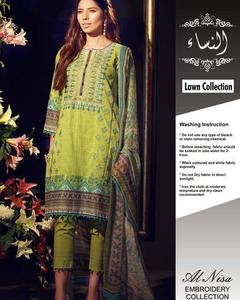 Khaadi Lawn With Chiffon Dupatta (Replica)(Unstitched)