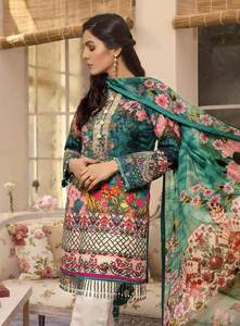Gulaal Now Available Fabric Lawn - Replica - Unstitched