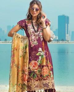 Rangrasiya Master Replica Lawn With Chiffon Dupatta (Replica)(Unstitched)