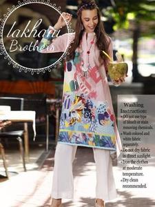 Gul Ahmed full silk digital kurti new collection 2019