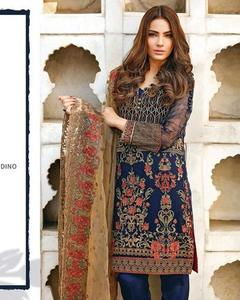 Baroque Chiffon Collection With Net Dupatta (Replica)(Unstitched)