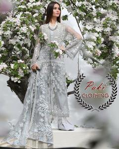 SANA SAFINAZ SUIT MADE ON NET WITH NET EMBROIDERED DUPATTA INNER INCLUDE (Replica)(Unstitched)