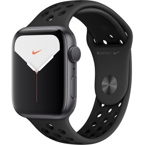 Apple Watch Series 5 (Nike+/GPS Only  44mm  Space Gray Aluminum  Anthracite/Black Nike Sport Band)  MX3W2