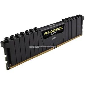 Corsair Vengeance® LPX 8GB (1x8GB) DDR4 DRAM 2400MHz Memory Kit - Black (CMK8GX4M1A2400C16)