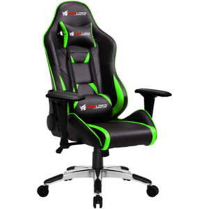 Warlord Phantom Gaming Chair - Black/Green