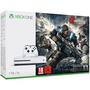 Xbox One S 1TB Console - Gears of War 4 Bundle - White - 4K HDR - 889842114317