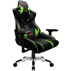 Fatal X Warcry PC Gaming Chair  Black & Green