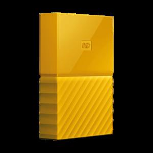WD My Passport 4TB External USB 3.0 Portable Hard Drive - Yellow - WDBYFT0040BYL