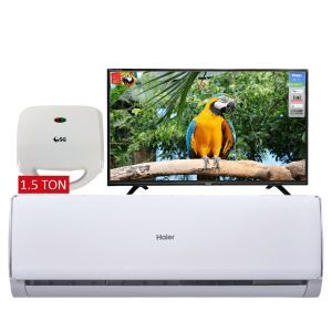 Haier 1.5 Ton A/C HSU-18LTC + Orient Macaw Series 40inch LED + SG 2 Slice Sandwich Toaster