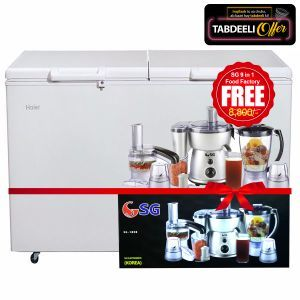Haier  Deep Freezer HR-385H With Free SG 9 in 1 Food Factory