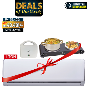 Haier Long Throw Air Conditioner HSU-12LTC + Westpoint Double Hot Plate WF-262 + SG 2 Slice Sandwich Toaster