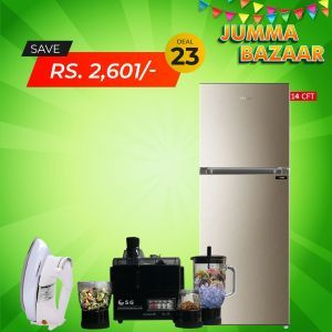 Haier Refrigerator E-Star Series HRF368 EBS/EBD + SG 4 In 1 Juicer Blender Dry Mill + SG Iron 22T