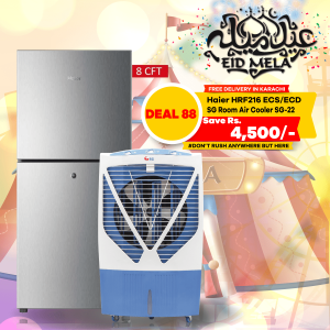 Haier Refrigerator HRF216 ECS/ECD & SG Room Air Cooler Energy Saving Chill Air Pure Copper Motor SG-22