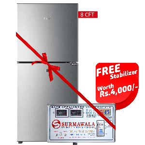 Haier Refrigerator HRF-216 EBS/EBD With Surmawala 1600 W Automatic Voltage Stabilizer S-45