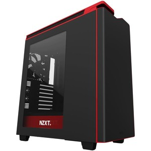 NZXT H440 Black + Red Mid Tower Casing