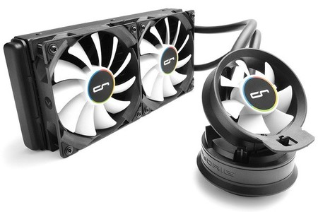 CRYORIG CRYORIG A40 Hybrid Water/Liquid Cooler With 240mm Radiator And Additional Airflow Fan - CR-A4A