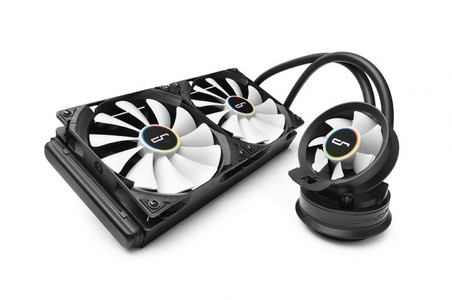 CRYORIG A80 Hybrid Water/Liquid Cooler With 280mm Radiator And Additional Airflow Fan - CR-A8A