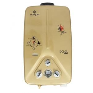 Nasgas Instant Gas Geyser Golden DG 06 L Gold 6 Liters