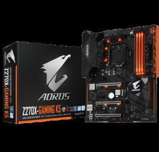 GIGABYTE Aorus GA-Z270X-Gaming K5 (rev. 1.0) LGA 1151 Intel Z270 USB 3.1 ATX Motherboard
