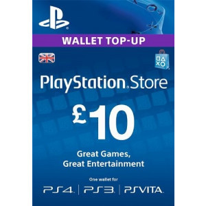 £10 PlayStation Store Gift Card - PS3/ PS4/ PS Vita [UK Region Instant Digital Code]
