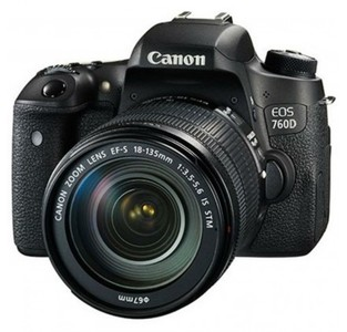 Canon EOS 760D Digital SLR Camera with 18-135mm Lens