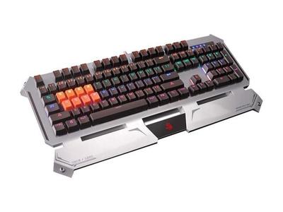 Bloody B740A Light Strike (LK) Optical Mechanical Gaming Keyboard – Linear Black Switch – Silver Grey