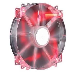 Cooler Mater Megaflow -200mm Red Led Computer Case Fan