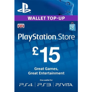 £15 PlayStation Store Gift Card - PS3/ PS4/ PS Vita [UK Region Instant Digital Code]