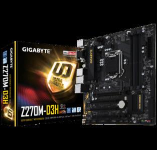 GIGABYTE GA-Z270M-D3H (rev. 1.0) LGA 1151 Intel Z270 USB 3.1 Micro ATX Motherboard