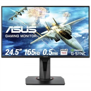 "ASUS VG258QR Gaming Monitor - 24.5""  Full HD  0.5ms*  165Hz  G-SYNC Compatible  Adaptive Sync"