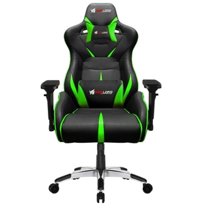 Warlord Templar Gaming Chair – Black/Green