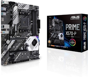 Asus Prime X570-P/CSM AMD AM4 ATX Motherboard with PCIe 4.0  Dual M.2  HDMI  SATA 6Gb/s  USB 3.2 Gen 2 and Aura Sync RGB Header