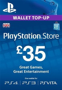 £35 PlayStation Store PSN Gift Card – PS3/ PS4/ PS Vita [UK Region Instant Email Delivery]