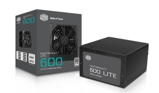 Cooler Master MasterWatt Lite 600W Power Supply for PC MPX-6001-ACABW