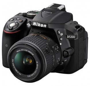 Nikon D5300 DSLR Camera with 18-55mm Lens (Black)