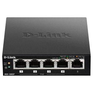 D-LINK 5-Port Gigabit Unmanaged Switch with 4 POE Ports (DGS-1005P)