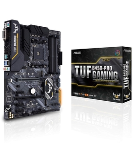 ASUS TUF B450-PRO GAMING AMD B450 ATX GAMING MOTHERBOARD WITH AURA SYNC  DDR4 3533MHZ SUPPORT  DUAL M.2  AND NATIVE USB 3.1 GEN 2.